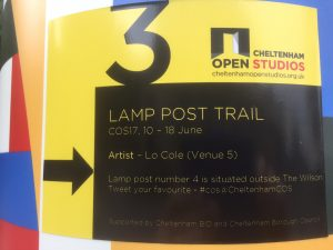 Lamp post art trail