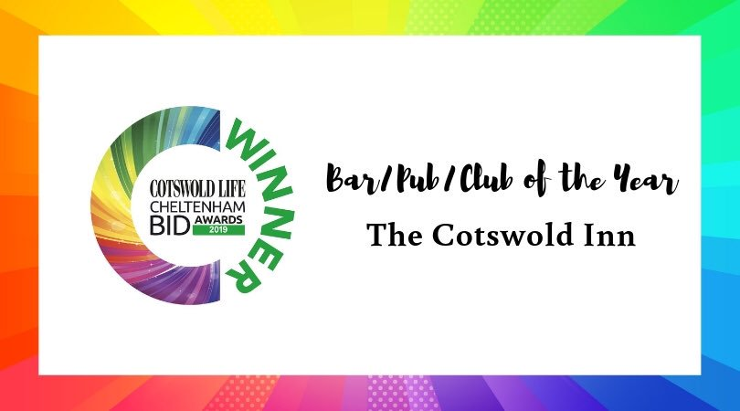 #CLCheltBIDawards Winner of Bar/Pub/Club of the Year - The Cotswold Inn