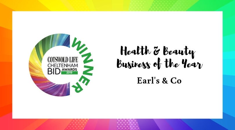 #CLCheltBIDawards Winner of Health & Beauty business of the year - Earls & Co