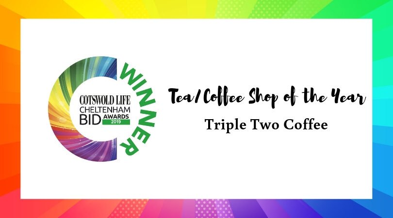 #CLCheltBIDawards Winner of Tea/Coffee Shop of the Year - Triple Two Coffee